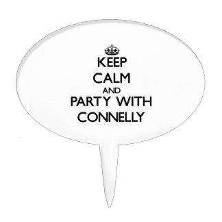 Guarde la calma y vaya de fiesta con Connelly Decoración De Tarta
