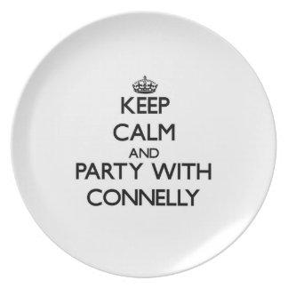 Guarde la calma y vaya de fiesta con Connelly Plato De Comida
