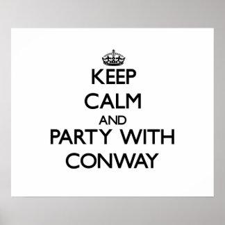 Guarde la calma y vaya de fiesta con Conway Impresiones