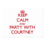 Guarde la calma y vaya de fiesta con Courtney Plantilla De Tarjeta De Negocio