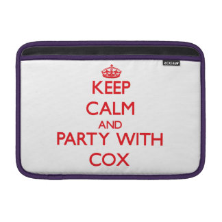 Guarde la calma y vaya de fiesta con $cox funda  MacBook