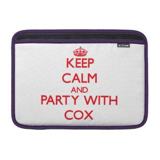 Guarde la calma y vaya de fiesta con $cox funda macbook air