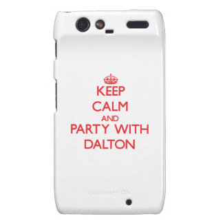 Guarde la calma y vaya de fiesta con Dalton Motorola Droid RAZR Funda