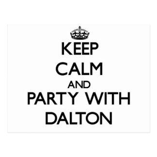 Guarde la calma y vaya de fiesta con Dalton Tarjetas Postales