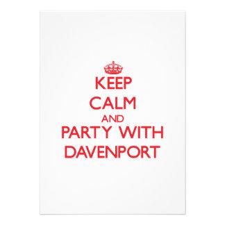 Guarde la calma y vaya de fiesta con Davenport