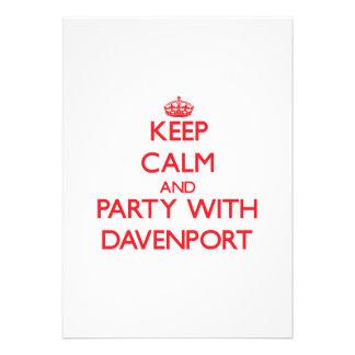 Guarde la calma y vaya de fiesta con Davenport Comunicados