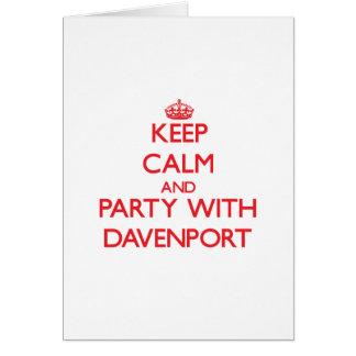 Guarde la calma y vaya de fiesta con Davenport Felicitacion