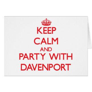Guarde la calma y vaya de fiesta con Davenport Felicitación