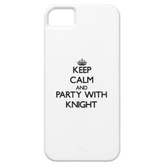 Guarde la calma y vaya de fiesta con el caballero iPhone 5 coberturas