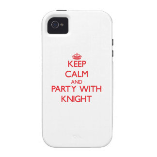 Guarde la calma y vaya de fiesta con el caballero vibe iPhone 4 carcasas