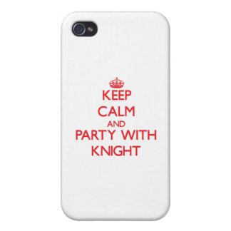 Guarde la calma y vaya de fiesta con el caballero iPhone 4 carcasa