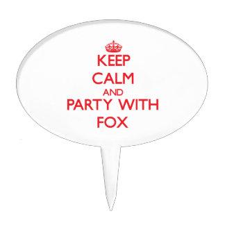 Guarde la calma y vaya de fiesta con el Fox Figuras Para Tartas