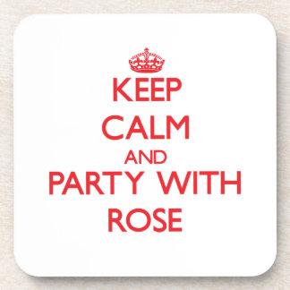 Guarde la calma y vaya de fiesta con el rosa posavasos