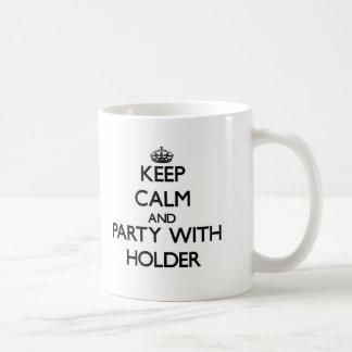 Guarde la calma y vaya de fiesta con el tenedor tazas