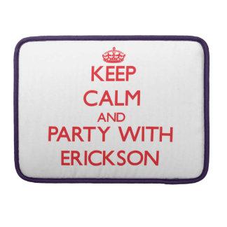 Guarde la calma y vaya de fiesta con Erickson Fundas Para Macbooks