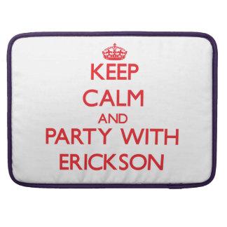 Guarde la calma y vaya de fiesta con Erickson Fundas Para Macbook Pro
