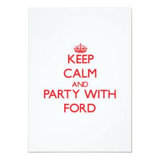 Guarde la calma y vaya de fiesta con Ford Comunicado Personalizado