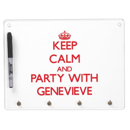 Guarde la calma y vaya de fiesta con Genevieve Pizarra