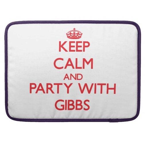 Guarde la calma y vaya de fiesta con Gibbs Funda Para Macbook Pro