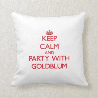 Guarde la calma y vaya de fiesta con Goldblum Almohadas