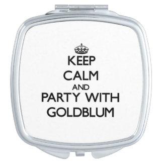 Guarde la calma y vaya de fiesta con Goldblum Espejo De Viaje