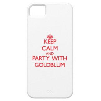 Guarde la calma y vaya de fiesta con Goldblum iPhone 5 Case-Mate Cárcasas
