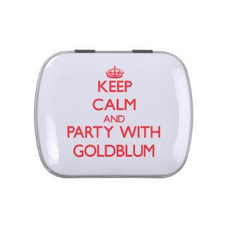 Guarde la calma y vaya de fiesta con Goldblum Jarrones De Dulces