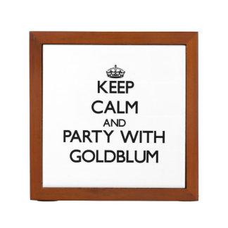 Guarde la calma y vaya de fiesta con Goldblum
