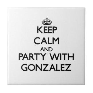 Guarde la calma y vaya de fiesta con Gonzalez Azulejos Cerámicos