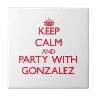 Guarde la calma y vaya de fiesta con Gonzalez Azulejo Cerámica
