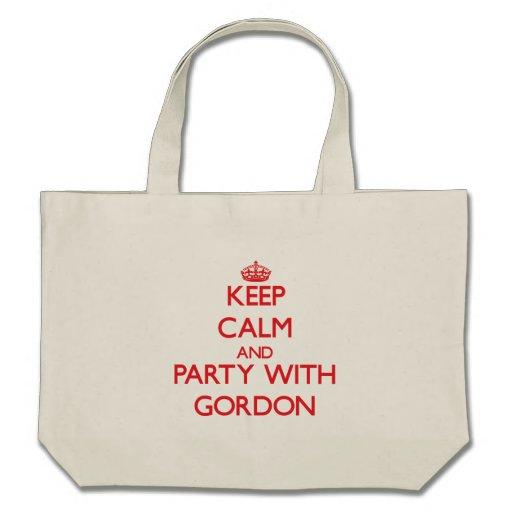 Guarde la calma y vaya de fiesta con Gordon Bolsa
