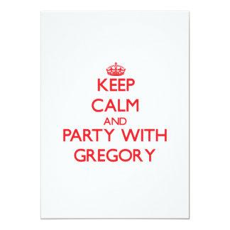Guarde la calma y vaya de fiesta con Gregory Invitación 12,7 X 17,8 Cm