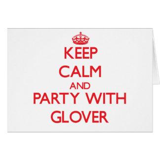 Guarde la calma y vaya de fiesta con guantero felicitación