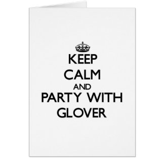 Guarde la calma y vaya de fiesta con guantero tarjeton
