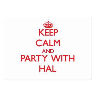 Guarde la calma y vaya de fiesta con Hal Plantillas De Tarjetas De Visita