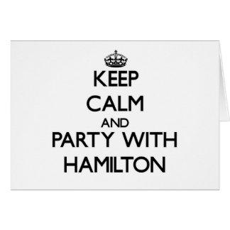 Guarde la calma y vaya de fiesta con Hamilton Tarjetón