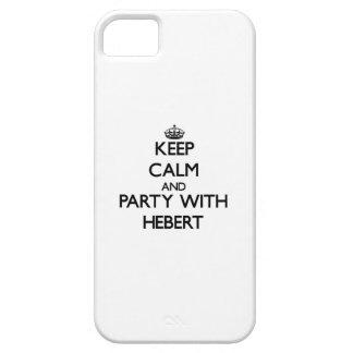 Guarde la calma y vaya de fiesta con Hebert iPhone 5 Fundas
