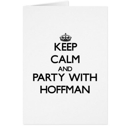 Guarde la calma y vaya de fiesta con Hoffman Felicitacion