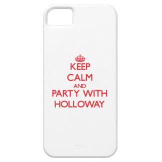 Guarde la calma y vaya de fiesta con Holloway iPhone 5 Fundas