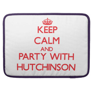 Guarde la calma y vaya de fiesta con Hutchinson Fundas Para Macbooks