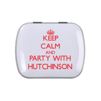 Guarde la calma y vaya de fiesta con Hutchinson Latas De Caramelos