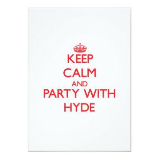 Guarde la calma y vaya de fiesta con Hyde Invitación 12,7 X 17,8 Cm
