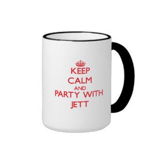 Guarde la calma y vaya de fiesta con Jett Taza De Café