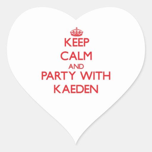 Guarde la calma y vaya de fiesta con Kaeden Etiquetas