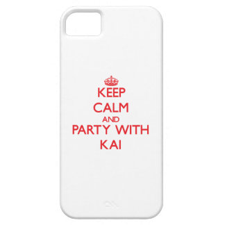 Guarde la calma y vaya de fiesta con Kai iPhone 5 Fundas