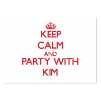 Guarde la calma y vaya de fiesta con Kim Tarjetas De Visita