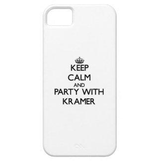 Guarde la calma y vaya de fiesta con Kramer iPhone 5 Case-Mate Cárcasas