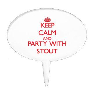 Guarde la calma y vaya de fiesta con la cerveza de figuras para tartas