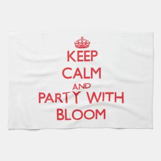 Guarde la calma y vaya de fiesta con la floración toallas de mano