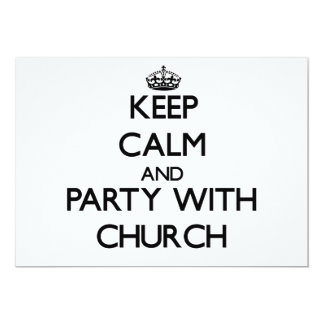Guarde la calma y vaya de fiesta con la iglesia invitación